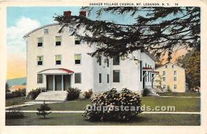 Old Vintage Shaker Post Card Village Church Mount Lebanon, New York, NY, USA ...