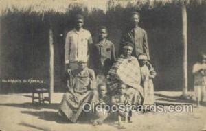 Njoaki & Family African Life Postcard Post Card  Njoaki & Family