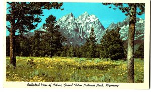 Cathedral View of Tetons, Grand Teton National Park, Wyoming