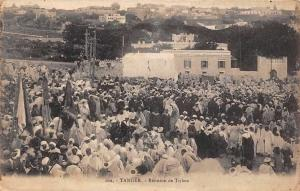 Morocco Tangier Maroc Tanger Reunion de Tribus, Native People, Postcard