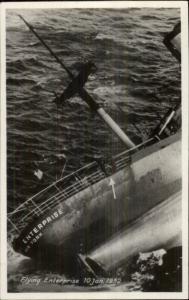 Dutch Ship Sinking Shipwreck FLYING ENTERPRISE 1952 Real Photo Postcard #3