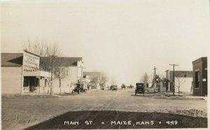 RP: MAIZE , Kansas , 1900-10s ; Main Street (dirt)