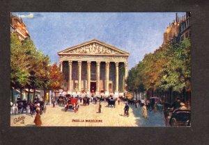 France Paris La Madeleine Car Tuck Oilette Carte Postale Postcard Carte Postkart