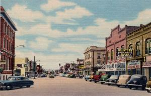 Main Street, Looking South, Kalispell.  Montana.