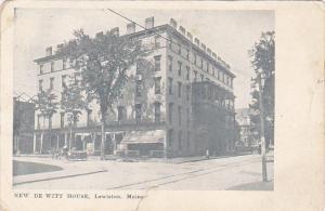 Maine Lewiston New De Witt House 1911