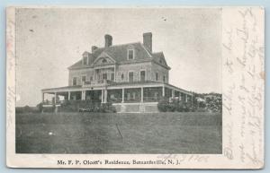 Postcard NJ Bernardsville Mr FP Olcott's Residence 1906 View N16