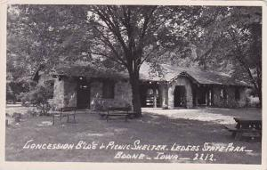 Iowa Boone Ledges State Park Concession Building & Picnic Shelter Real Photo ...