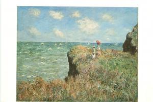 Old Vintage Postcards Painting Claude Monete Pourville # 2030A