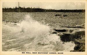 ME - Southwest Harbor. Sea Wall