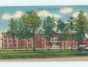 Linen SOLDIERS AND SAILORS HOME Erie Pennsylvania PA G2055