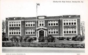 C43/ Shelbyville Kentucky Ky Postcard c1940s Shelbyville High School Building