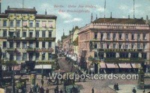 Unter den Linden Berlin Germany 1913