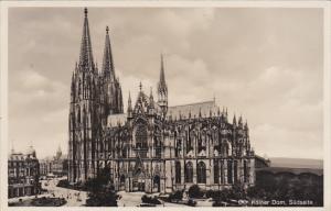 Germany Koel Der Koelner Dom Suedseite Real Photo