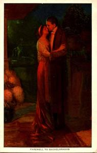 Farewell to Bachelorhood.  Artist Signed: Alfred James Dewey