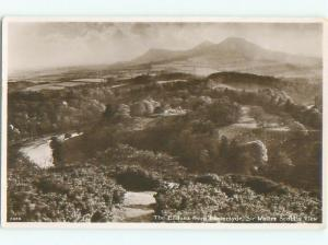 old rppc NICE VIEW Bemersyde Near Melrose Scotland UK i1886