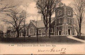 Massachusetts Newton Centre First Congregational Church 1905 Rotograph