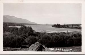 Big Bar Lake BC British Columbia c1952 Real Photo Postcard D39