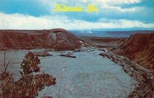KILAUEA IKI Halemaumau Crater Mauna Loa Hawaii Volcanoes Park ca 1960s Postcard