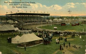 IA - Des Moines. Iowa State Fairgrounds, Steel Ampitheatre & Race Track