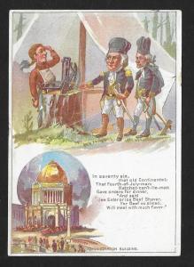 VICTORIAN TRADE CARD Enterprise Beef Shaver Washington Troop