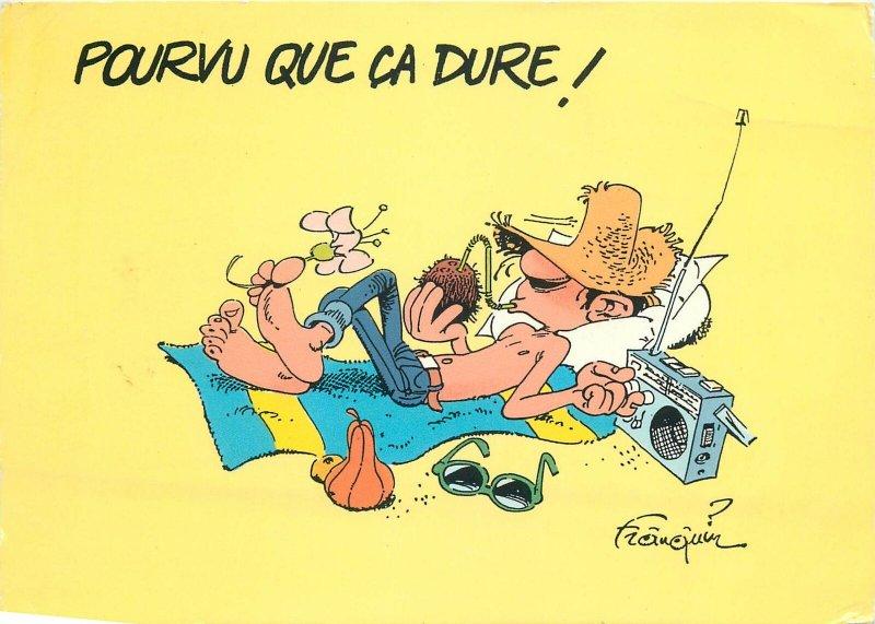 Funny Comic Seaside Humour Postcard man at beach caricature