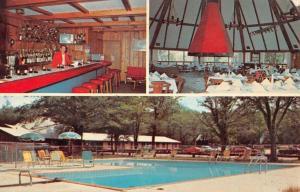 Comins Michigan Fonro Lodge Resort Motel Multiview Vintage Postcard K101618