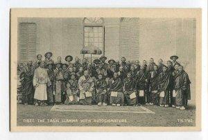 287095 TIBET Tibetan Tashi lamas group photo Vintage postcard
