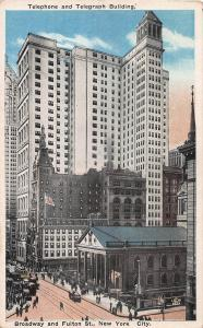 Telephone & Telegraph Building, Manhattan, N.Y.C., N.Y., Early Postcard, Unused