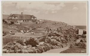 Kent; The East Cliff, Folkestone 2613 RP PPC 1950, To L Statham, Scotland Yard