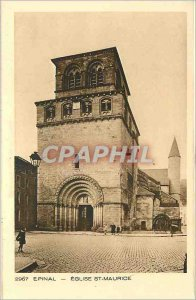 Postcard Epinal Old Church St Maurice