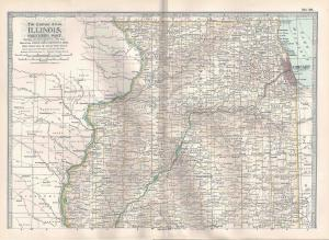 VINTAGE MAP Northern Illinois c1897 from Century Atlas