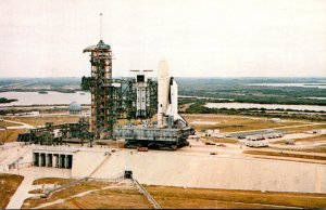 Florida Kennedy Space Center First Space Shuttle On Launch Site Pad A At Comp...