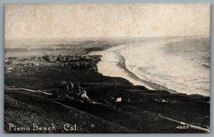 Postcard Pismo Beach CA c1908 View From Hilltop Ocean Beach Surf San Luis Obispo