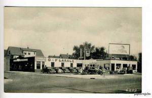 Hamden CT Dodge Plymouth Dealership Mobil Gas Postcard