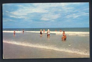 Block Island, Rhode Island/RI Postcard, Beach Scene, 1956!
