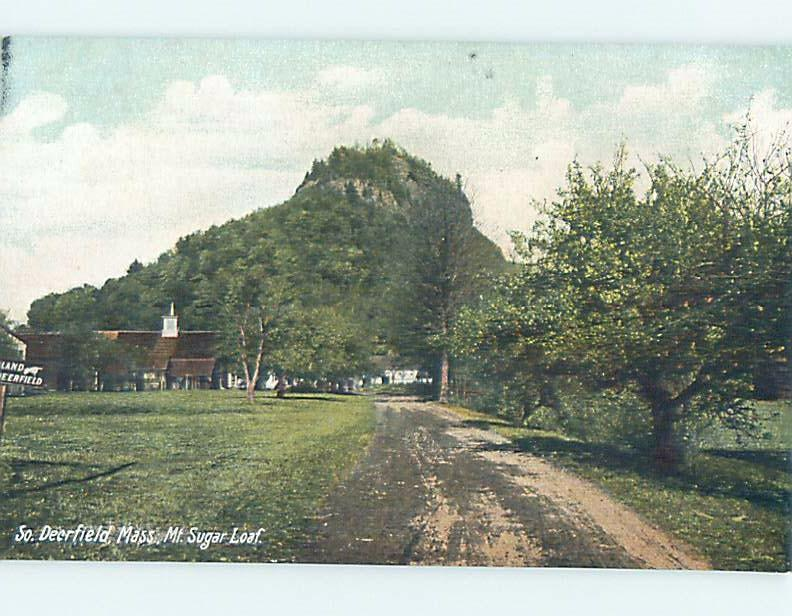Pre-1907 ROAD BY MOUNT SUGARLOAF South Deerfield - Near Northampton MA A1591