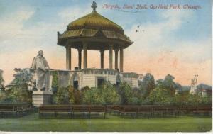 Pergola, Band Shell, Garfield Park ~ Chicago Illinois IL ~ c1912 Postcard