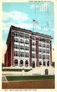 Utah Salt Lake City Elk's Club 1924 Curteich