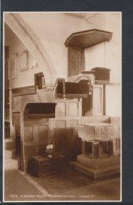 Hampshire Postcard - 3-Decker Pulpit, Minstead Church  RS10464