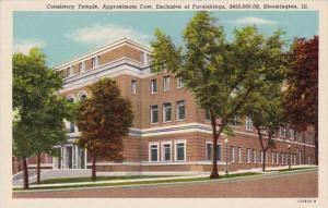 Illinois Bloomington Consistory Temple  Curteich