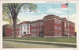High School, RUTLAND, Vermont, PU-1940