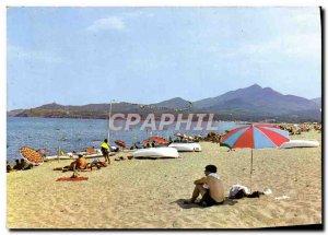 Modern Postcard Argeles Sur Mer The Beach Center