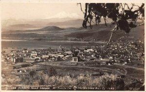 LPS73 Klamath Falls Oregon Aerial Town View Postcard RPPC