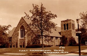 Minnesota Alexandria First Congregational Church Real Photo