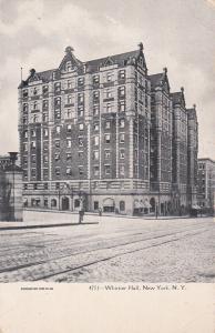 NEW YORK CITY, New York, 1901-07; Whittier Hall