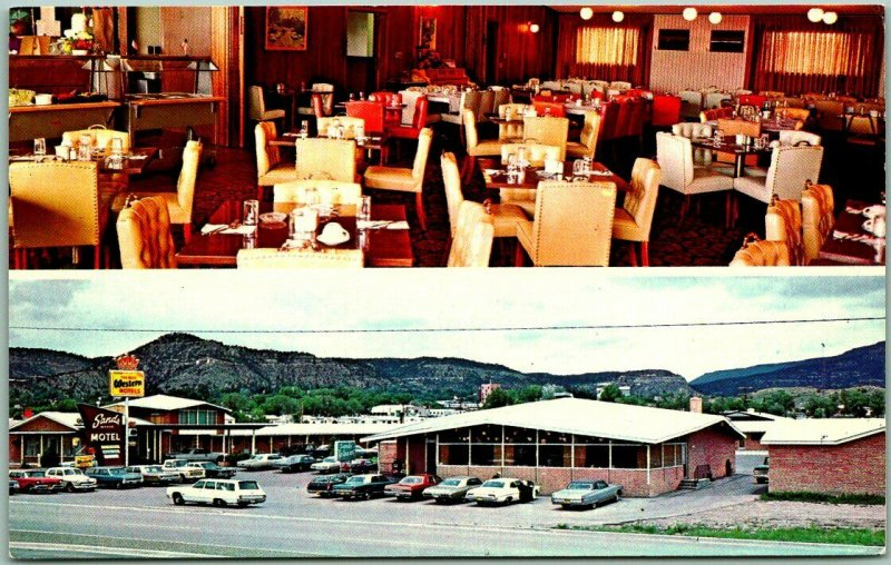 Raton, New Mexico Postcard SANDS MANOR RESTAURANT Route 87 Roadside Dated 1976