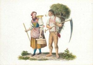 Switzerland swiss early folk costumes ethnic types Appenzell