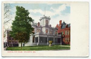 Capitol City Club Atlanta Georgia 1907c postcard