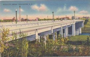 New Hampshire Manchester Queen City Bridge 1940