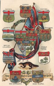br10593 maple leaf for ever canada litho